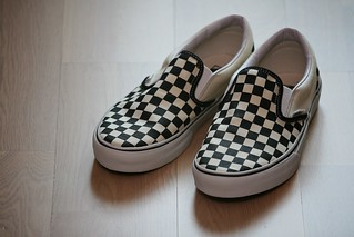 Vans Checkerboard Slip On Sneaker Shoe Carnvial