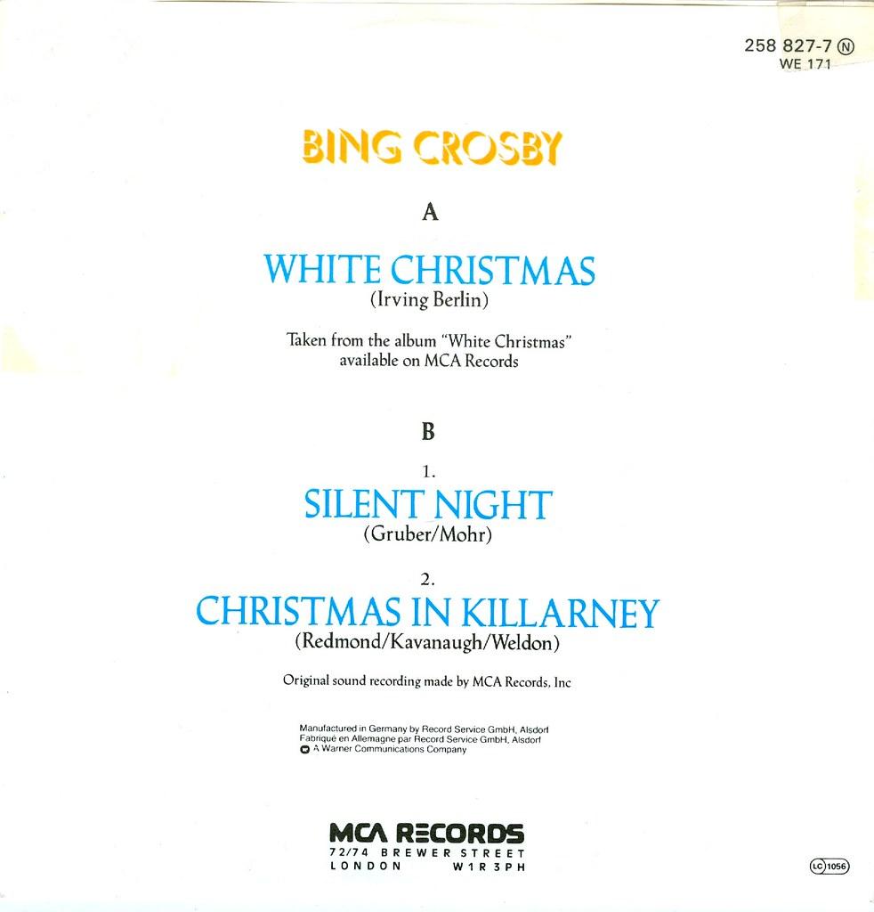 8 Crosby Bing White Christmas D 1982 Klaus Hiltscher
