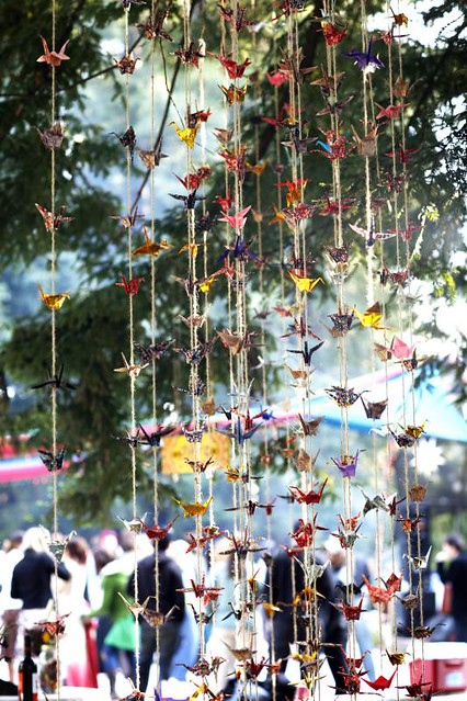 Mg 8875 alison bank flickr for 1000 paper cranes wedding decoration