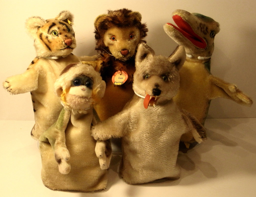 A Collection of Vintage 1950's-era Steiff Hand Puppets ...