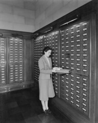 Photograph of Card Catalog in Central Search Room, 1942 | by The U.S. National Archives