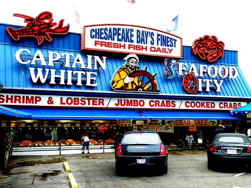 Captain White's Seafood City - Washington, DC | The open air… | Flickr