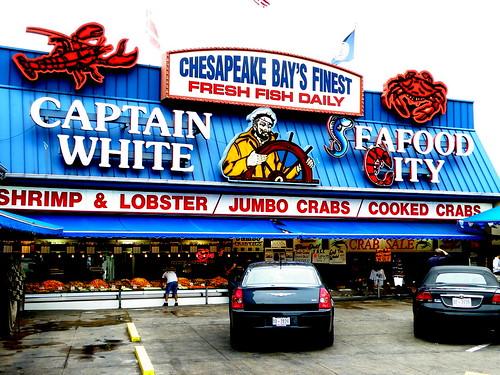 Captain white 39 s seafood city washington dc the open for Washington dc fish market