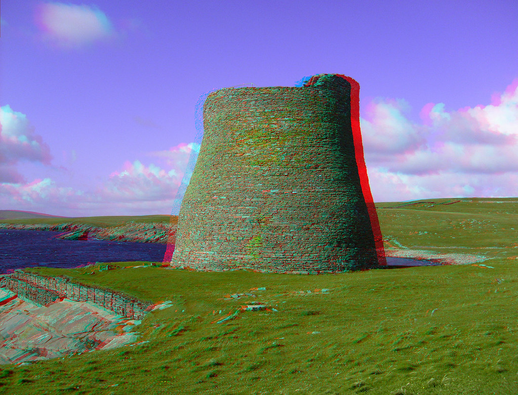 Broch of Mousa co | This is a stereo image. Bitte mit ...