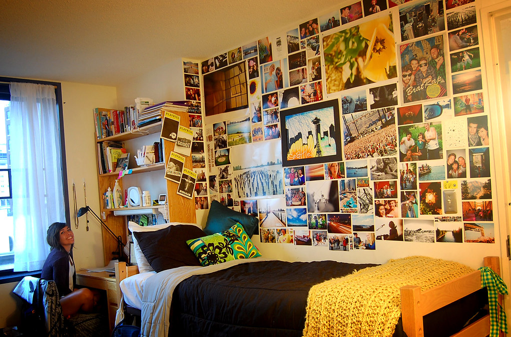 My dorm room all set up leah hartman flickr College dorm wall decor