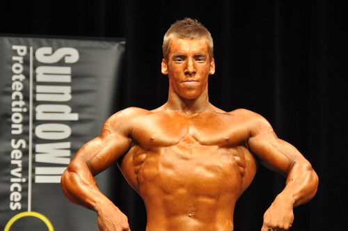 Junior class bodybuilder | Pre-judging onstage. South
