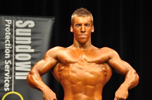 Junior class bodybuilder | Pre-judging onstage. South
