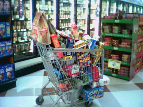 64 of shoppers claimed their grocery carts were at least