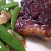 Duck Roast with Blueberry Sauce, Side of Snap Peas