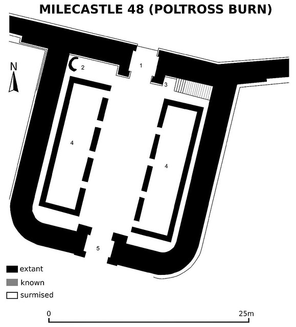 Milecastle 48 plan