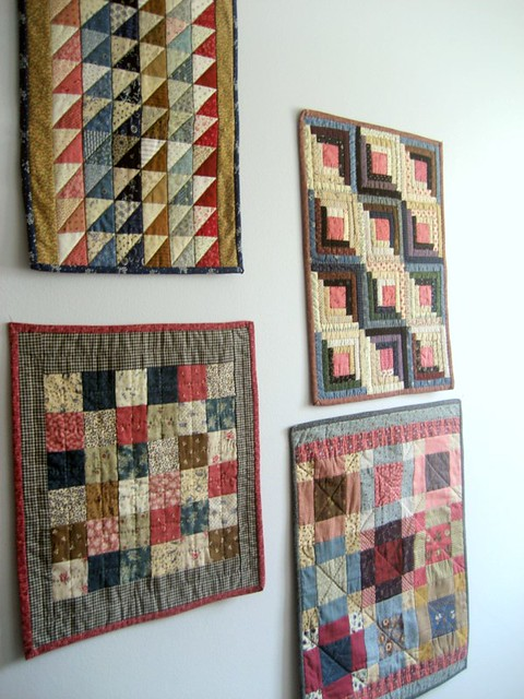 Small Wall Of Small Quilts Kathleen Tracy Flickr