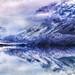 The Glassy Lake Near Antarctica