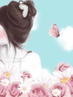 Cute Korean Cartoon Girl Wallpaper Adsleaf Com
