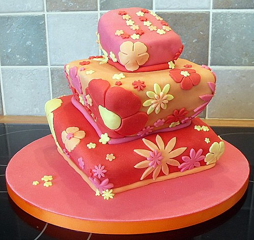 My sisters Wonky Birthday Cake My first tiered cake Choc Flickr