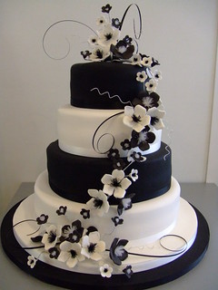 Monochrome wedding cake by www.cakechester.co.uk | by CAKE Chester