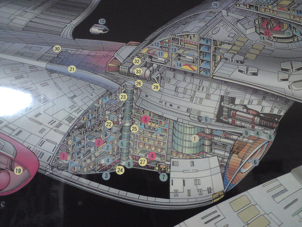 uss enterprise ncc 1701 d cutaway poster this great lookin flickr. Black Bedroom Furniture Sets. Home Design Ideas