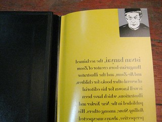 Front of Author Pic and Backwards Text under the jacket for THE OTHER SIDE by Istvan Banyai | by firstsecondbooks