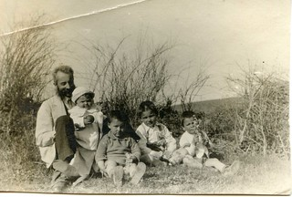 1924, grandfather and his children after picking flowers | by elinor04 thanks for 28,000,000+ views!