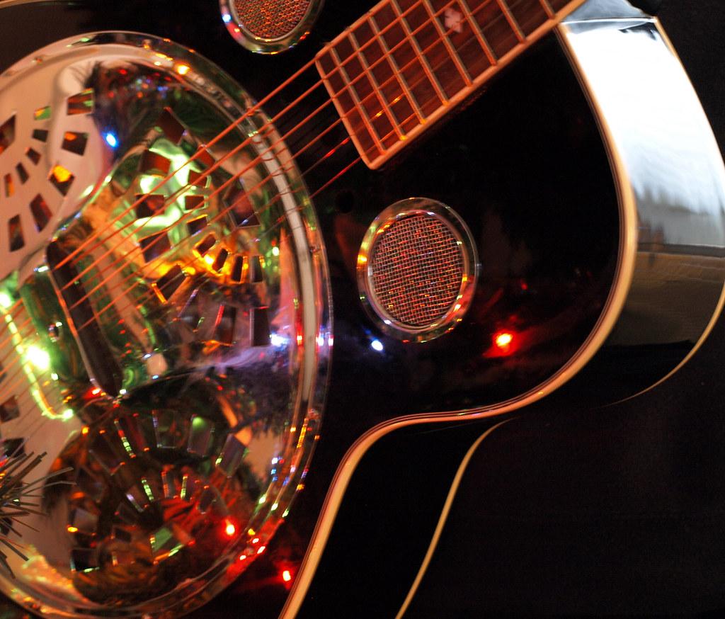 Guitar And Christmas Lights