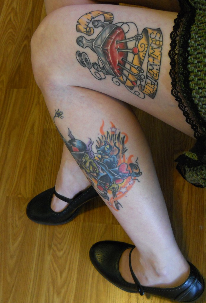 Super awesome tattoos my pin cushion and witch tattoos for Dekalb tattoo company