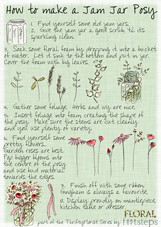 How to Make a Jam Jar Posy: The Illustrated Guide | by floralfootsteps
