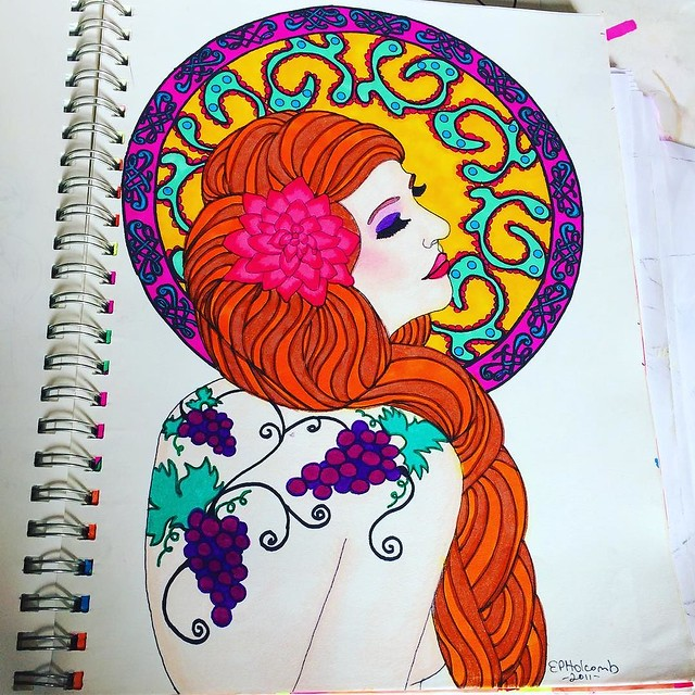 Art marker/ink, 2011. I made this drawing into a T-shirt design back when I had a Zazzle store. Remember Zazzle?