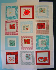 Red & Aqua Quilt top | by alissahcarlton