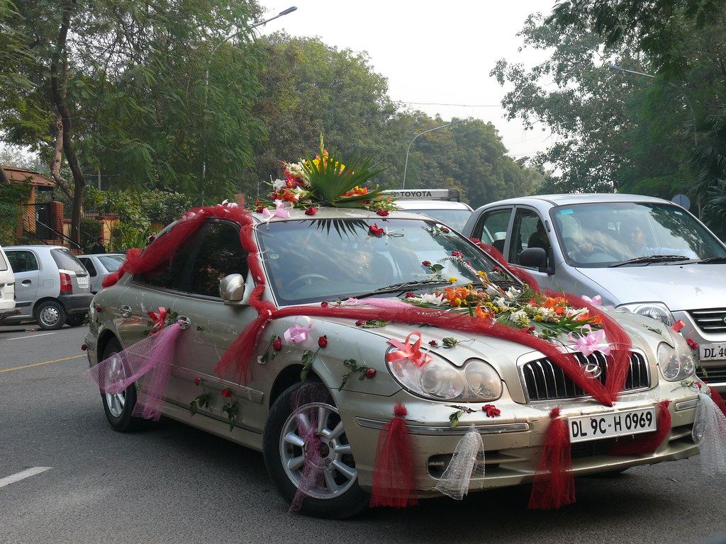 Decorated Indian Wedding Car