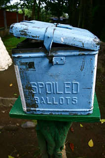 Ballot box used as a donation box | by georgeparrilla