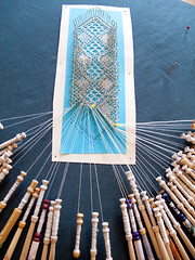 the making of lace - a bookmark | by birds & trees