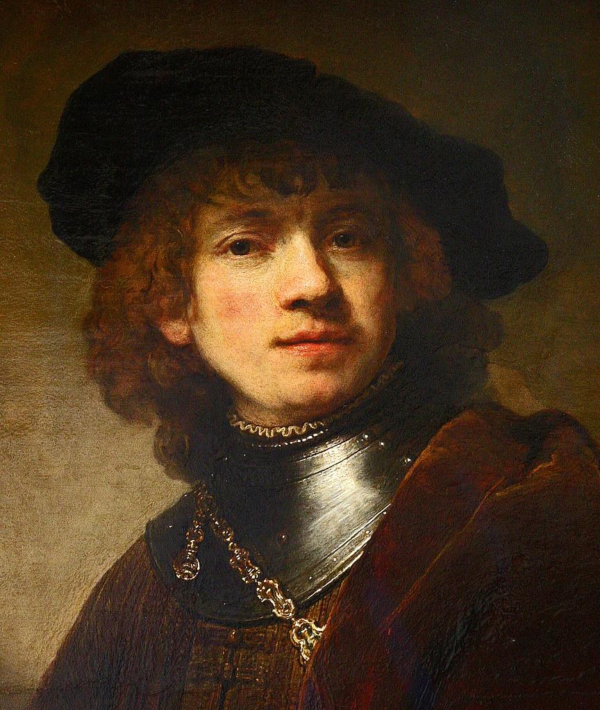 rembrandt selfportrait as a young man galleria degli