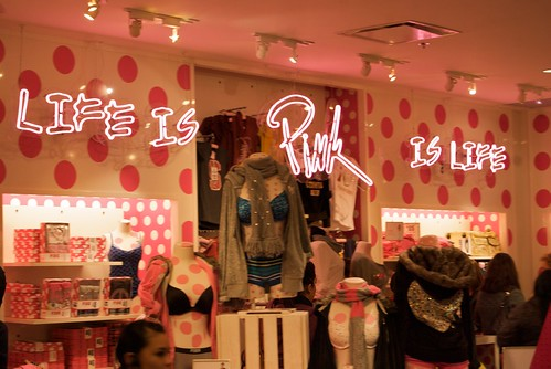 Life is Pink is life, Victoria's Secret Black Friday at Westfield San Francisco Centre 2009 | by Steve Rhodes