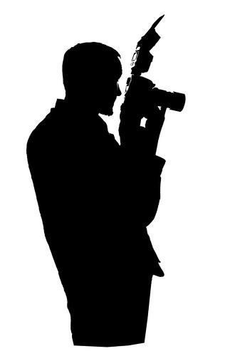 photographer silhouette photographer silhouette on white