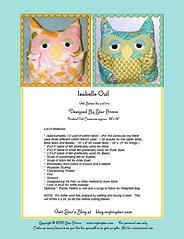 Isabelle Owl Pattern | by mytinystar