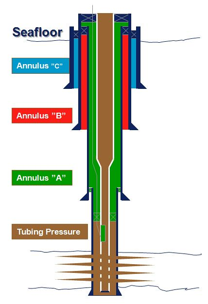 Oil Well Tubing Casing And Annulus Subsea Well Tubing