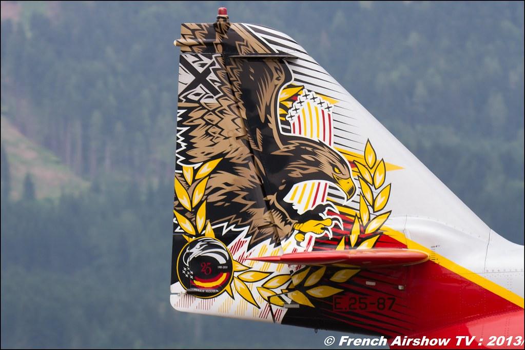 Patrulla Águila , Patrouille Aguila , patrouille d'Espagne , Ejército del Aire , CASA C-101 ,AIRPOWER13 , Zeltweg , Austria , airpower 2013 Zeltweg