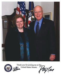 Senator Patrick Leahy and I | by maplemama
