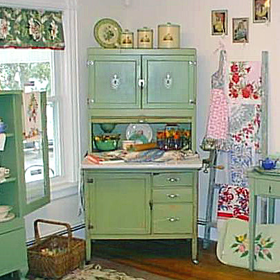 Green 1930 S Hoosier Cabinet At T Party Antiques And Tea R
