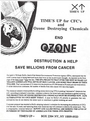 Time's Up for CFCs and Ozone destroying chemicals