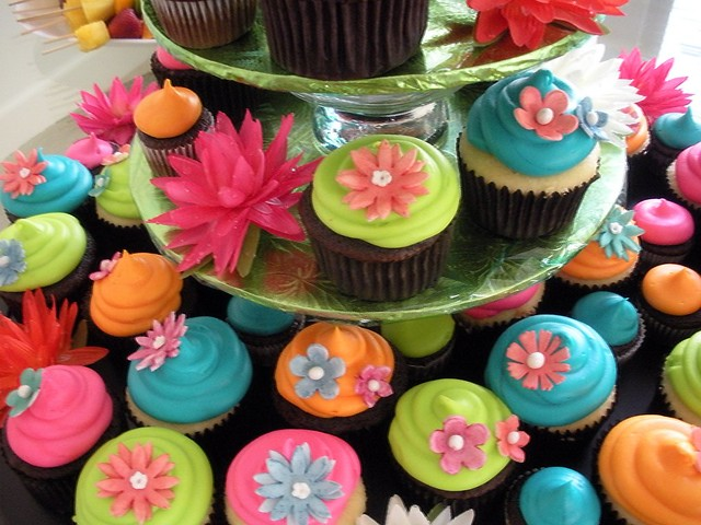 Tropical Cupcakes Close Up Every Month My Friends And