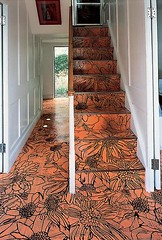 Richard woods painted wood floor and stairs source Richard woods designs