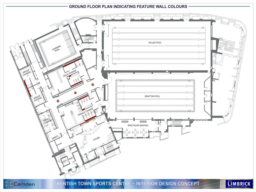 Kentish Town Sports Centre - ground floor layout | For