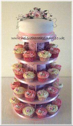 Wedding Cupcake White Amp Pink Rose 9 White Amp Pink