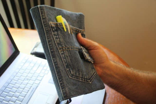 Book Cover Black Jeans : Deinm bible cover spine featured on sewing crafts to