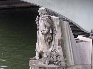 The Zouave statue - Pont de l'Alma