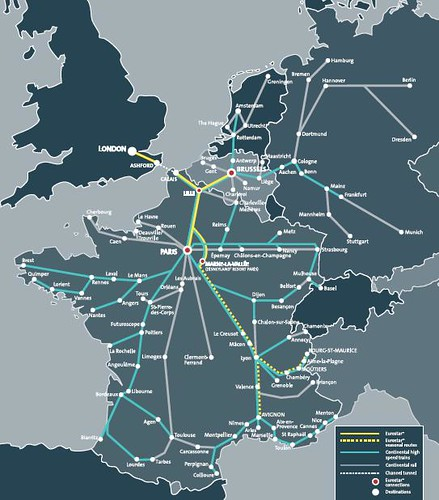 Map of eurostar connecting high speed train routes flickr map of eurostar connecting high speed train routes by train chartering private publicscrutiny Choice Image