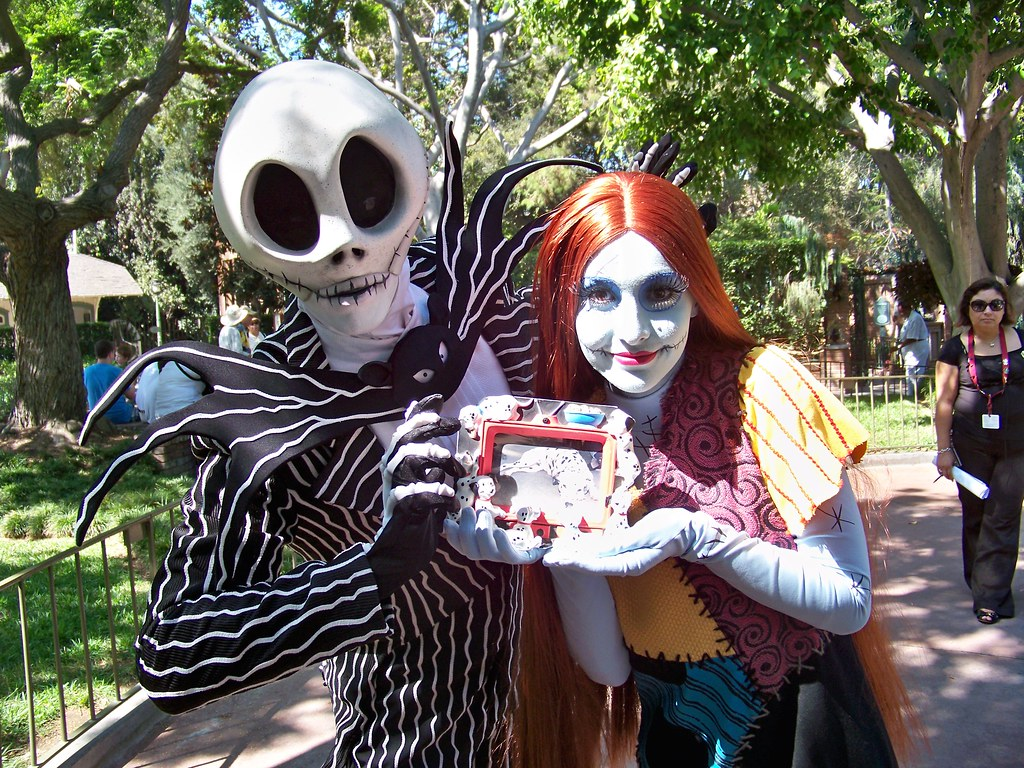 Jack Skellington, Sally and Birney in New Orleans Square