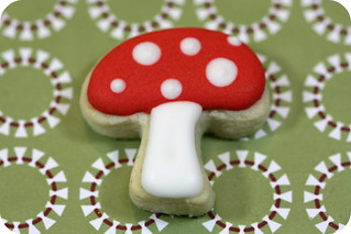 red and white mushroom cookie | by sweetopia*