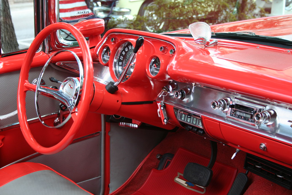 1957 Chevy Belair Convertible - interior | Charlie J | Flickr
