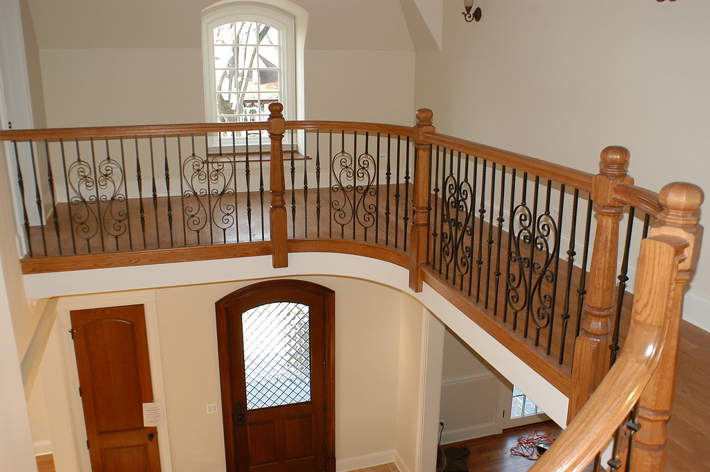 Gothic With S Scrolls Iron Balusters Custom Stair